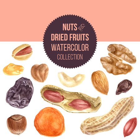 Background with nuts and dried fruits