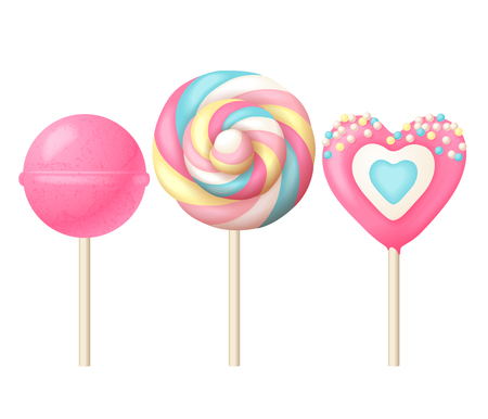 Sweet lollipops illustration