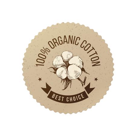 Emblema di cotone biologico
