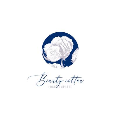 Plantilla de logotipo de algodón de belleza