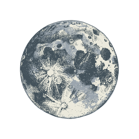 Hand drawn moon 向量圖像