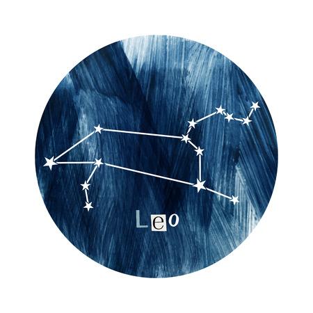 The Leo zodiac constellation Illustration