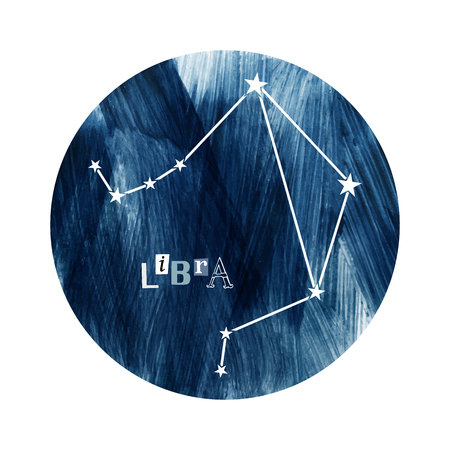 Die Waage Sternzeichen Konstellation Vektorgrafik