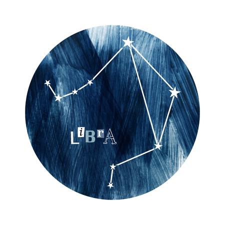 The Libra zodiac constellation Illustration