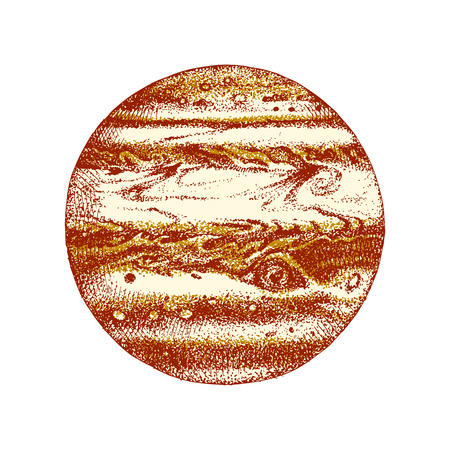 Hand drawn planet Jupiter