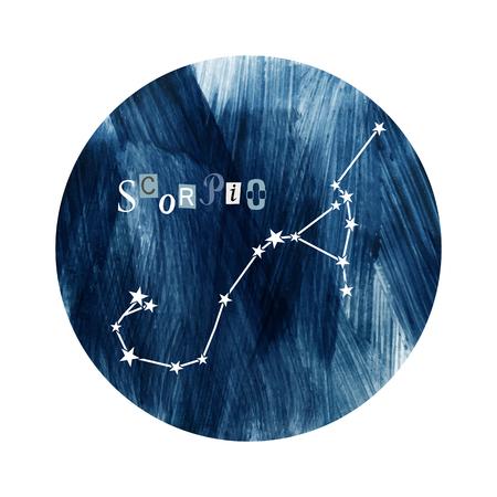 The Scorpio zodiac constellation Stock Vector - 109807548