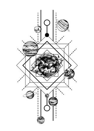 Geometría sagrada del sistema solar