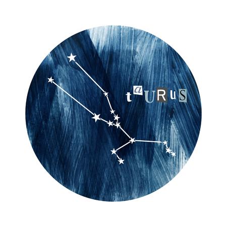 The Taurus zodiac constellation  イラスト・ベクター素材