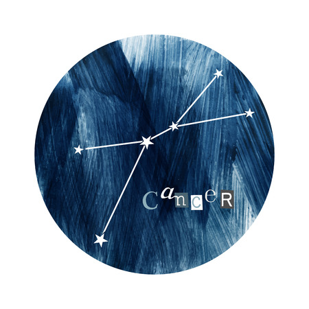 The Cancer zodiac constellation Standard-Bild - 109807608