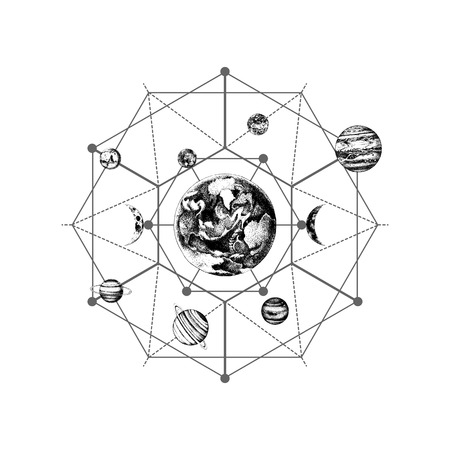 Heilige geometrie van het zonnestelsel