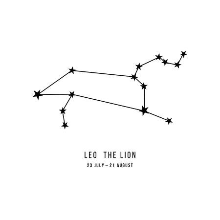 Zodiac constellation Leo