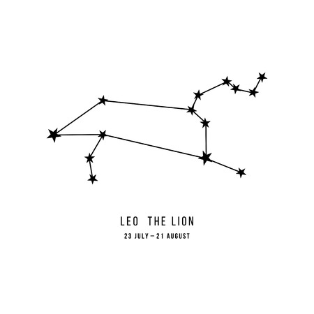 Zodiac constellation Leo 版權商用圖片 - 109807870