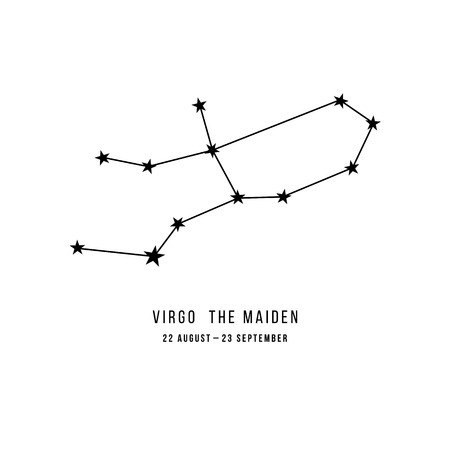 Constelación del zodiaco Virgo