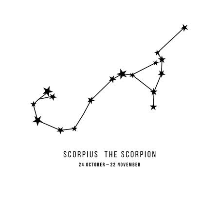 Zodiac constellation Scorpio 向量圖像