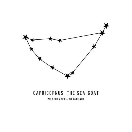Zodiac constellation Capricornus Archivio Fotografico - 109807874