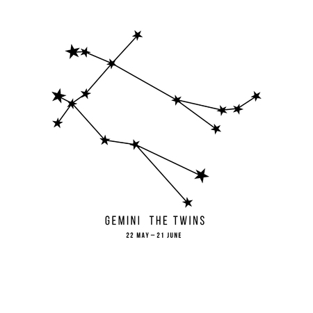 Zodiac constellation Gemini