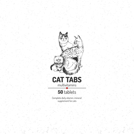 Cat tabs logo template