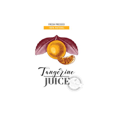 Fresh pressed natural tangerine juice