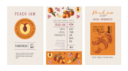 Peach jam flyer templates Иллюстрация