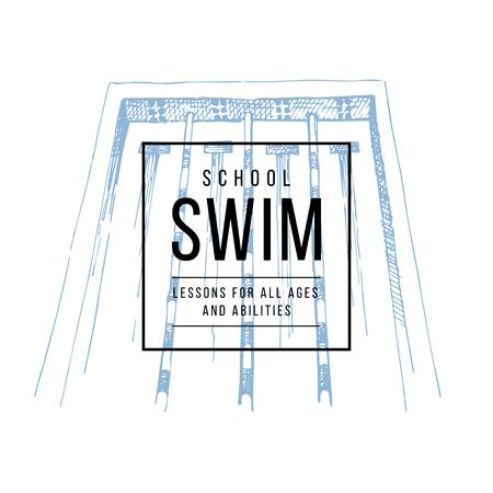 Swim school emblem