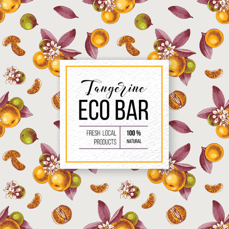 Eco bar tangerine paper emblem