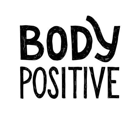 Body positive. Hand drawn lettering. Vector illustration