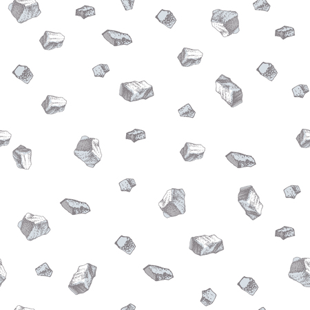 Hand drawn seamless pattern with salt crystals
