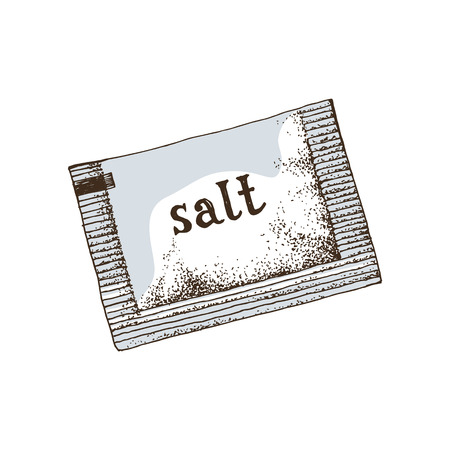 Hand drawn salt sachet