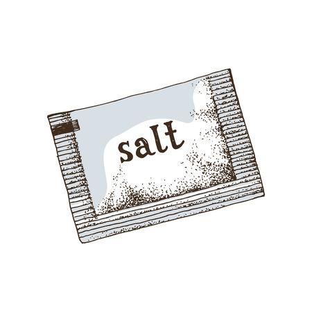 Handgezeichneter Salzbeutel Vektorgrafik