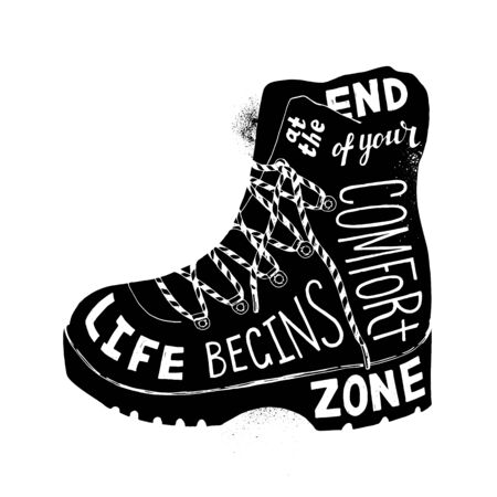 Life begins at the end of your comfort zone Ilustrace