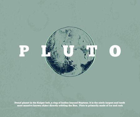 Hand drawn planet Pluto Stock fotó - 129247144