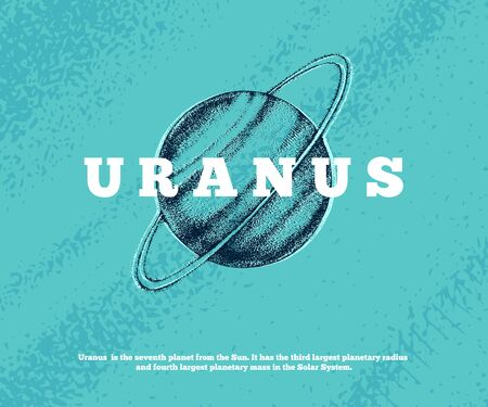 Hand drawn Uranus planet