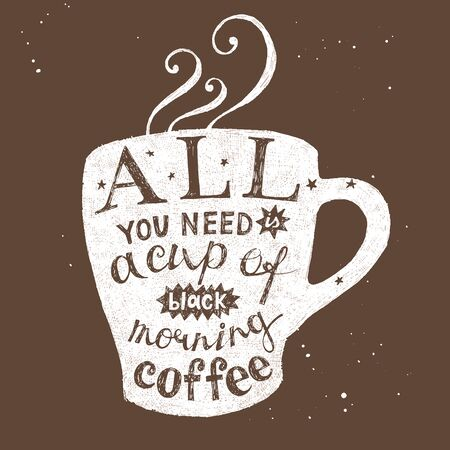 All you need is a cup of black morning coffee