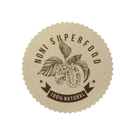 Noni superfood eco label.