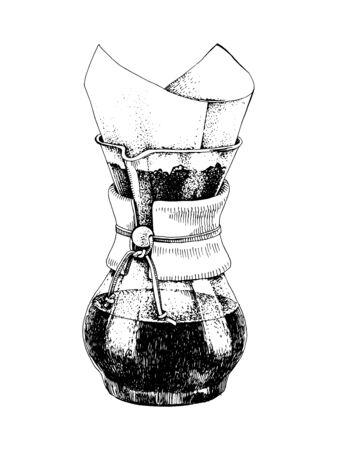 Hand drawn coffeemaker Ilustracje wektorowe