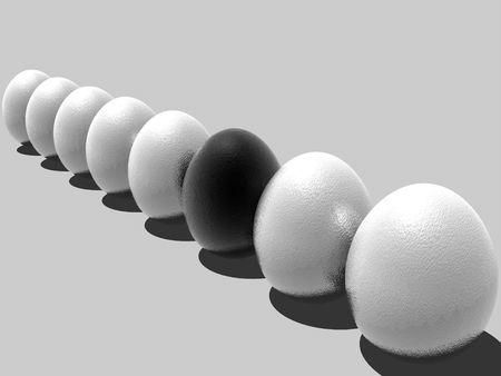 Something strange with one of the egg photo
