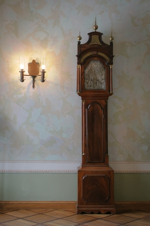 grandfather and grandmother: Antique clock