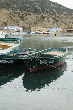 green boat: green boat in the bay