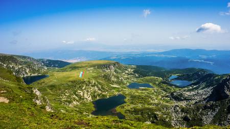 De zeven Rila-meren, Rila-berg, Bulgarije Stockfoto