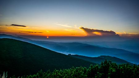 Beautiful Sunset Over Rila Mountain in Bulgaria
