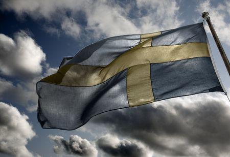 icono: Bandera de Suecia  Stock Photo