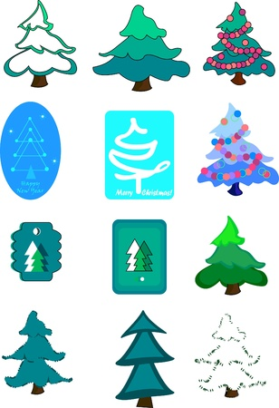 newyear: Vector illustration with NewYear tree