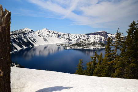 photo of Crater Lake in south Oregon