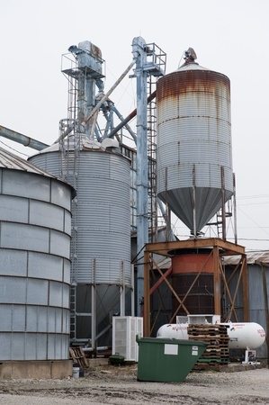 Agricultural site with grain silos and propane tanks Stock Photo - 9090467