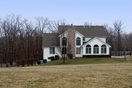 Beautiful two-story home with wooded land Stock Photo - 9090469