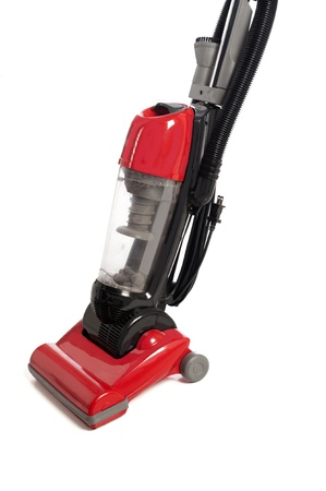 Lightweight portable vacuum cleaner isolated on white background