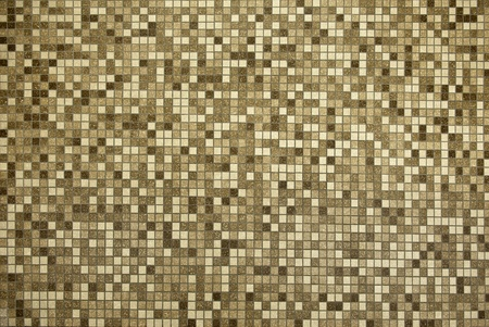 brown ceramic floor made up of hundreds of one inch tiles Stock Photo - 10680280