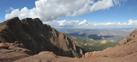 View from the top of Pikes Peak, Colorado Rocky Mountains