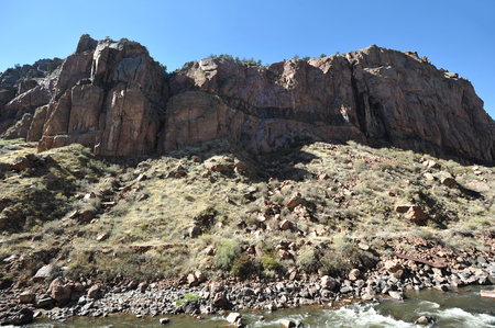 Mountain cliffs in Colorados Royal Gorge Stock Photo