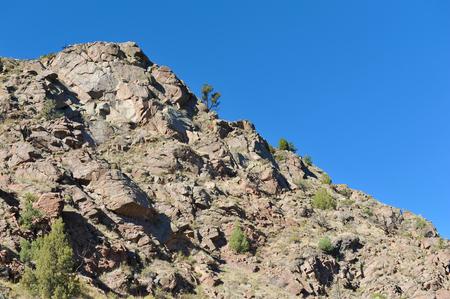 Mountain wall in Colorados Royal Gorge